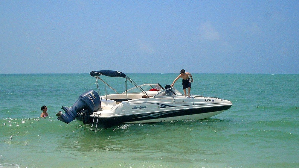 Bootfahren bei Cape Coral, Florida