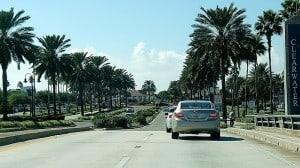 Fahrt nach Clearwater Florida im Mietwagen