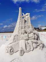 Sandskulpturen Festival auf Fort Myers Beach, Florida